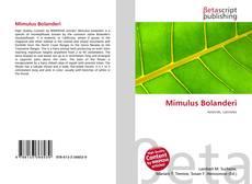 Bookcover of Mimulus Bolanderi