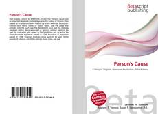 Bookcover of Parson's Cause