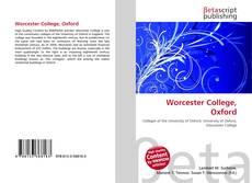 Capa do livro de Worcester College, Oxford