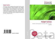 Portada del libro de Ralph Sultan