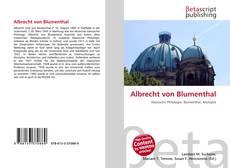 Обложка Albrecht von Blumenthal