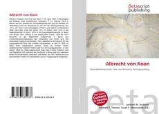 Couverture de Albrecht von Roon