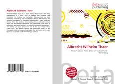 Обложка Albrecht Wilhelm Thaer