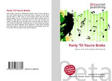 Party 'Til You're Broke kitap kapağı