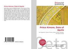 Bookcover of Prince Aimone, Duke of Apulia