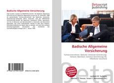 Обложка Badische Allgemeine Versicherung