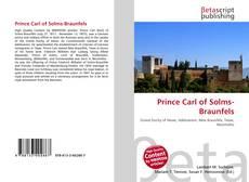 Portada del libro de Prince Carl of Solms-Braunfels