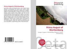 Bookcover of Prince August of Württemberg