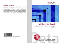 Victimes du Devoir kitap kapağı