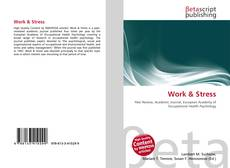 Bookcover of Work & Stress