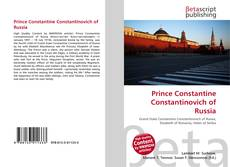 Couverture de Prince Constantine Constantinovich of Russia