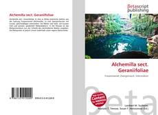 Bookcover of Alchemilla sect. Geraniifoliae