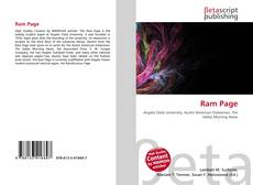 Bookcover of Ram Page