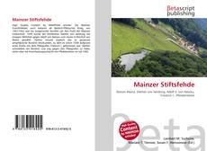 Bookcover of Mainzer Stiftsfehde