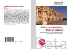 Capa do livro de Prince Ferdinand Pius, Duke of Calabria