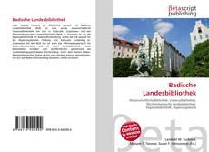 Обложка Badische Landesbibliothek