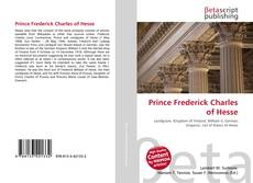 Bookcover of Prince Frederick Charles of Hesse