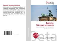 Bookcover of Badische Ständeversammlung