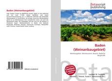 Baden (Weinanbaugebiet) kitap kapağı