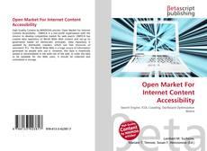 Buchcover von Open Market For Internet Content Accessibility
