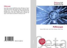 Bookcover of Pdfescape