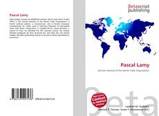 Buchcover von Pascal Lamy