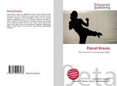 Buchcover von Pascal Krauss