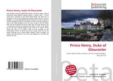 Обложка Prince Henry, Duke of Gloucester