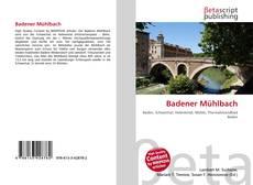 Bookcover of Badener Mühlbach