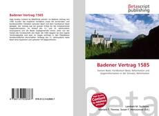 Buchcover von Badener Vertrag 1585