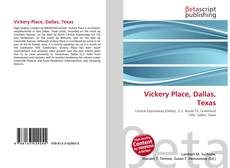 Portada del libro de Vickery Place, Dallas, Texas