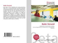 Buchcover von Bader Versand