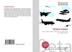 Portada del libro de Vickers Vanox