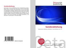Bookcover of Sonderabteilung