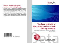 Copertina di Workers' Institute of Marxism–Leninism – Mao Zedong Thought