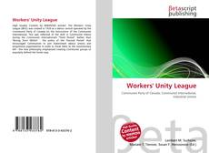 Bookcover of Workers' Unity League