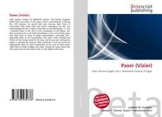 Capa do livro de Paser (Vizier)