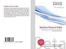 Bookcover of Workers Party of India