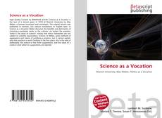 Bookcover of Science as a Vocation