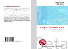 Bookcover of Science Communication
