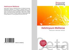 Helichrysum Melitense的封面