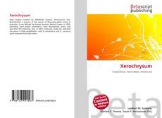 Xerochrysum kitap kapağı