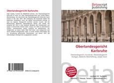 Buchcover von Oberlandesgericht Karlsruhe