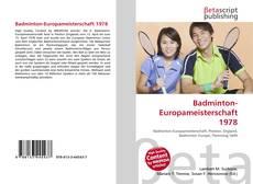 Bookcover of Badminton-Europameisterschaft 1978