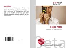 Portada del libro de Bernd Aldor
