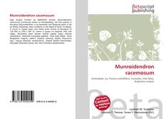 Bookcover of Munroidendron racemosum