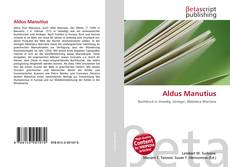 Bookcover of Aldus Manutius
