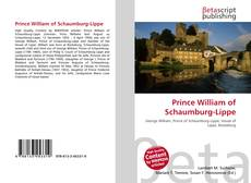 Bookcover of Prince William of Schaumburg-Lippe