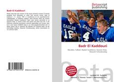 Badr El Kaddouri kitap kapağı
