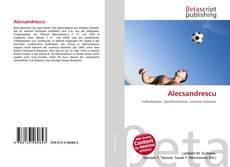 Alecsandrescu kitap kapağı